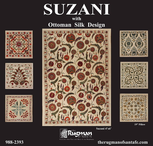 Suzani With Ottoman Silk Design